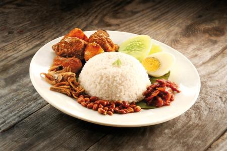 lemak: Nasi lemak curry chicken