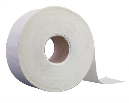 Jumbo toilet paper roll Stock Photo