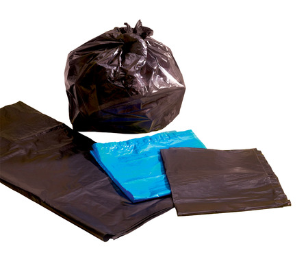 waste prevention: Garbage bag Stock Photo