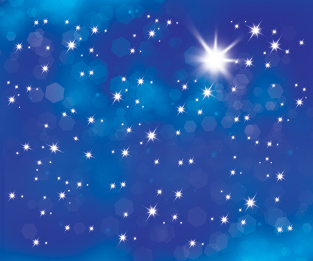 blue star background: Blue abstract background with star lights Stock Photo