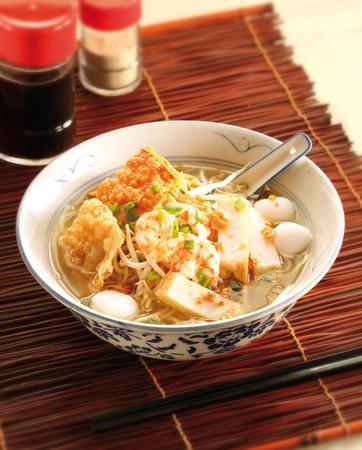 fish ball: Fish ball noodle soup Stock Photo