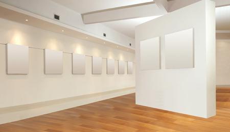 art frame: Art gallery hall