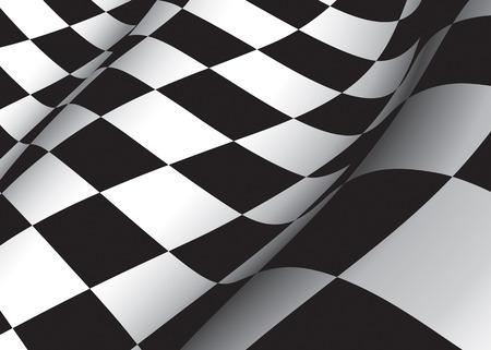 cuadros blanco y negro: Bandera de Checkered Foto de archivo