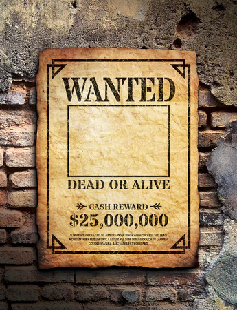 western wall: Wanted Poster