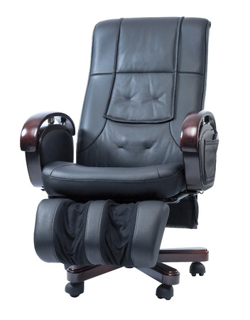 reclining chair: Massage Chair Stock Photo
