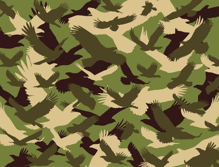 camuflaje: Águila de camuflaje Vectores