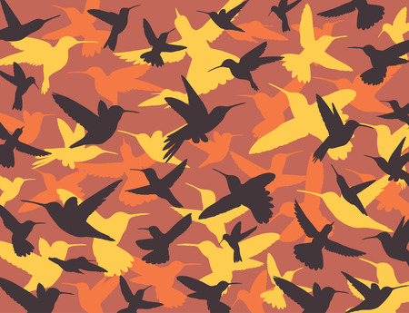color conceal: hummingbird camouflage Illustration