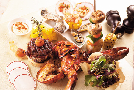 Seafood platter Standard-Bild