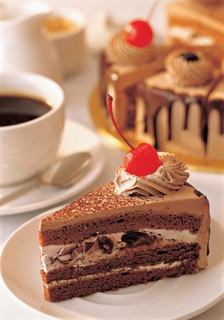 rebanada de pastel: rebanada de pastel en un plato Foto de archivo
