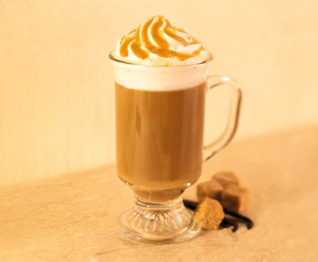 hot chocolate drink: Caramel coffee