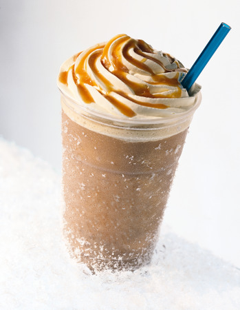blend: Ice Frappuccino Stock Photo