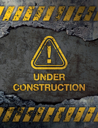 abstract grunge: Under Construction Sign