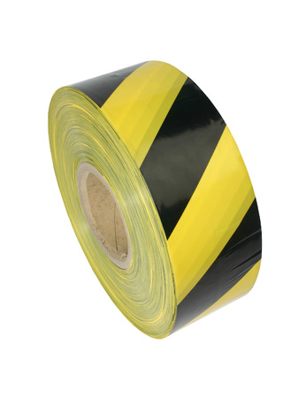 caution tape: Yellow and black barrier tape