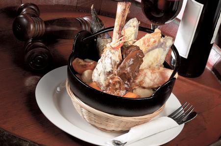 lamb shank: Braised lamb shank with tempura