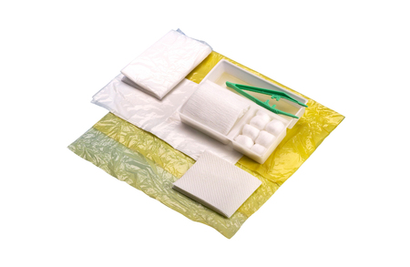 waste prevention: Disposable medical kit Stock Photo