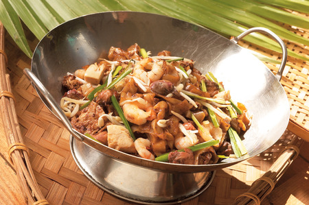 char: Asian style fried noodle char kway teow