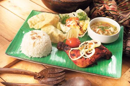 tandoori chicken: Chicken tandoori set meal
