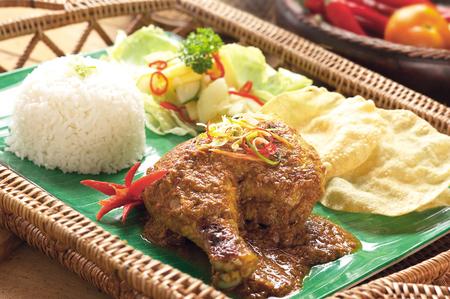 Nasi lemak rendang chicken