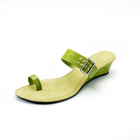 heel strap: Elegant and stylish lady shoe Stock Photo