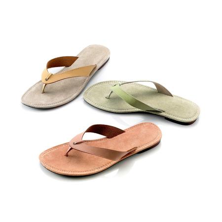sandalias: sandalias de la señora Foto de archivo