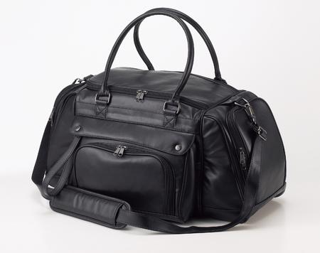 travel bag: Leather travel bag Stock Photo