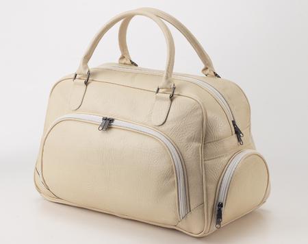 Leather travel bag Standard-Bild