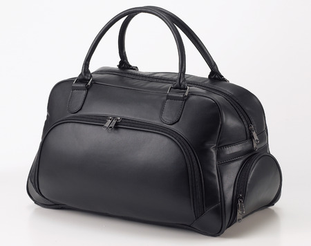 men and women: Leather travel bag Stock Photo
