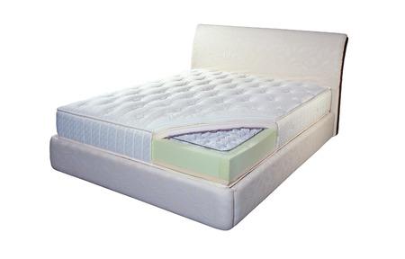 Mattress made of pocket springs and foam Standard-Bild
