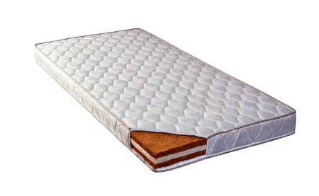Mattress made of coconut fiber and sponge Banco de Imagens