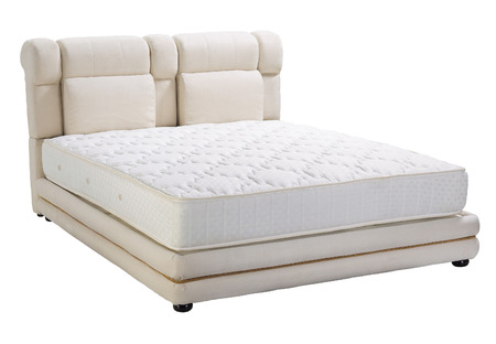 Modern platform bed with mattress