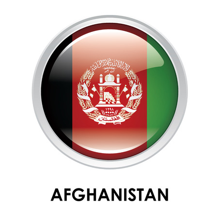 afghanistan: Round flag of Afghanistan