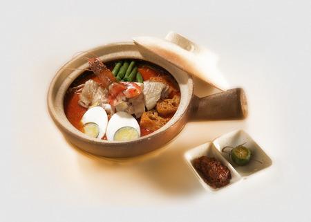 laksa: Claypot curry laksa