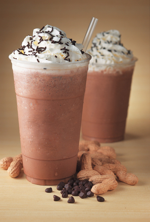 Peanut ice blended coffee