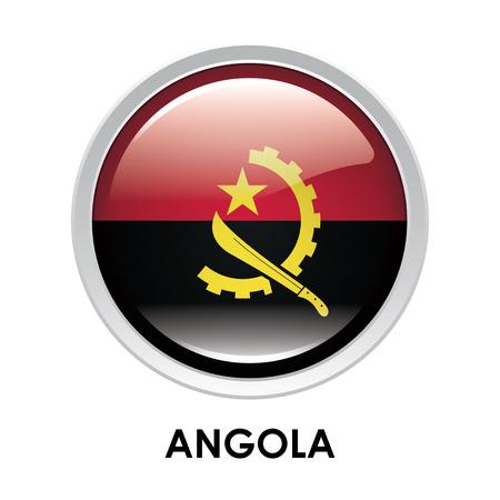 angola: Round flag of Angola