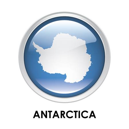 antarctica: Round flag of Antarctica