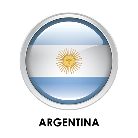 argentina map: Round flag of Argentina