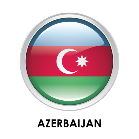 azerbaijan: Round flag of Azerbaijan