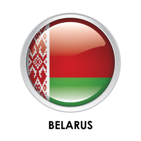belarus: Round flag of Belarus