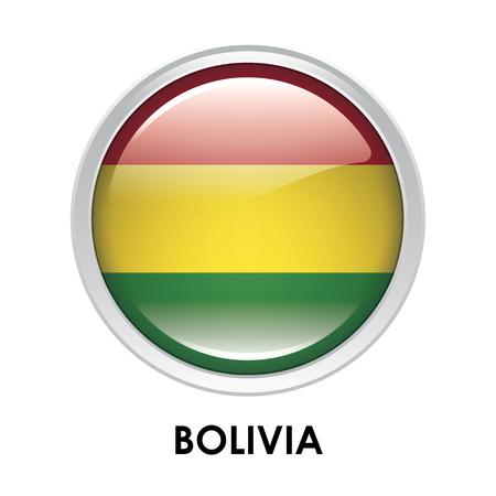 mapa de bolivia: La bandera redonda de Bolivia Foto de archivo
