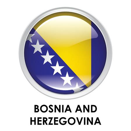 bosnia and herzegovina flag: Round flag of Bosnia and Herzegovina Stock Photo