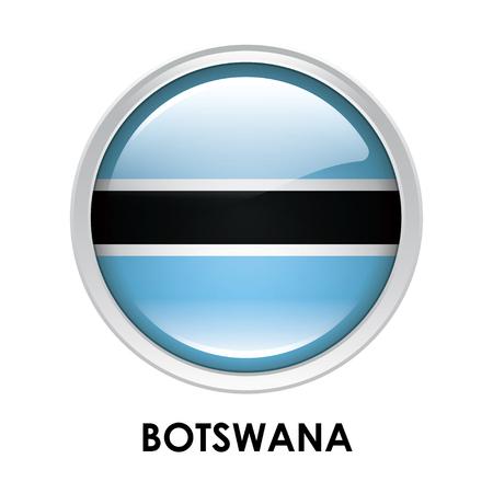 botswana: Round flag of Botswana