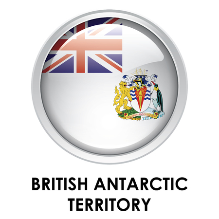 antarctic: Round flag of British Antarctic Territory