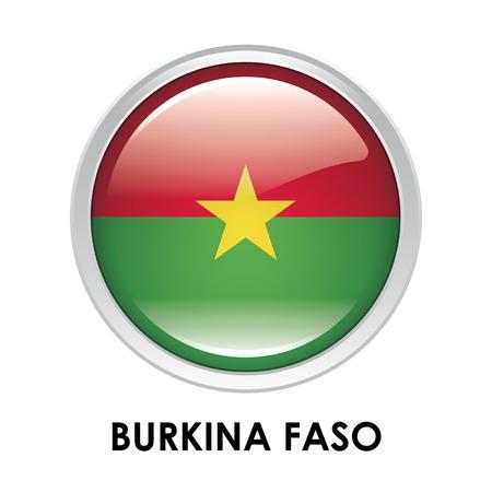 burkina faso: Round flag of Burkina Faso