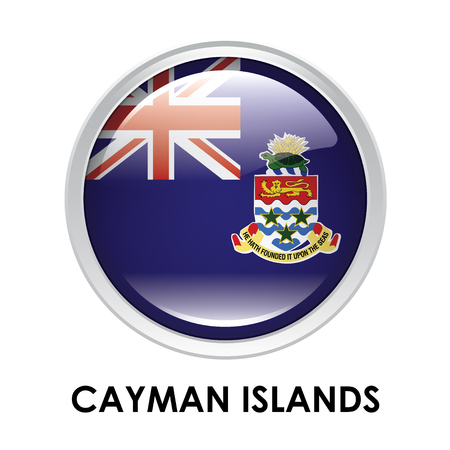cayman islands: Round flag of Cayman Islands Stock Photo