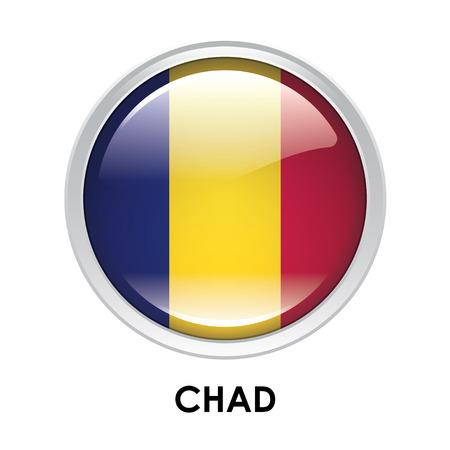 chad: Round flag of Chad