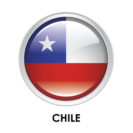 chile flag: Round flag of Chile