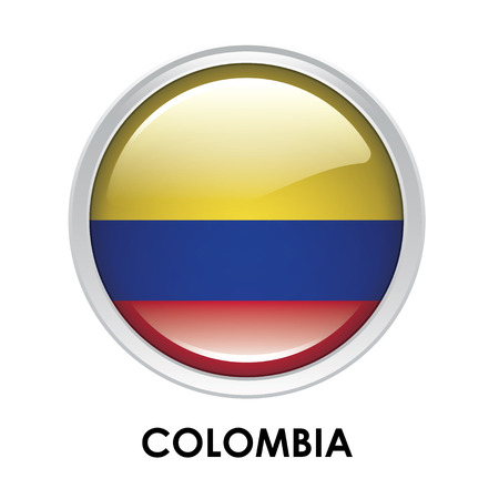 colombia flag: Round flag of Colombia