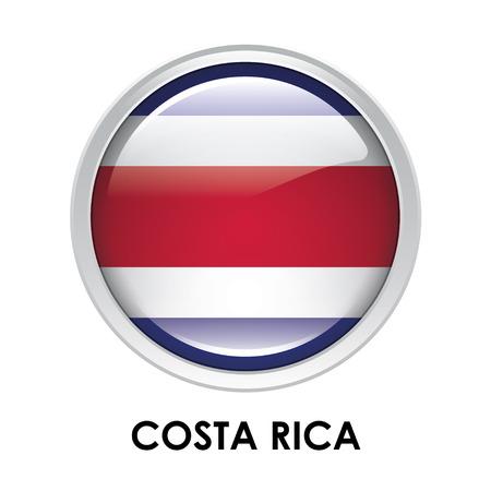 bandera de costa rica: Indicador redondo de Costa Rica Foto de archivo