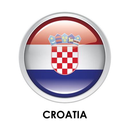 bandera de croacia: La bandera redonda de Croacia