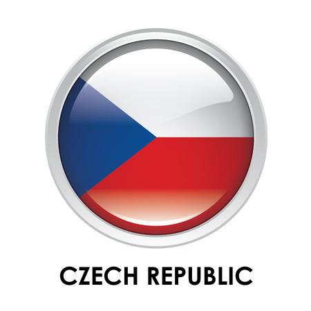 czech republic: Round flag of Czech Republic Stock Photo